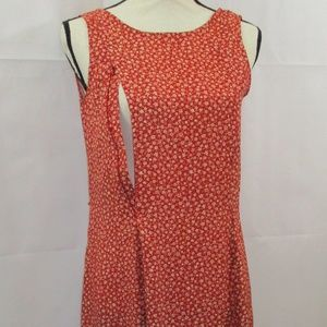 Breastfeeding Nursing Red Floral Sleeveless Sz S